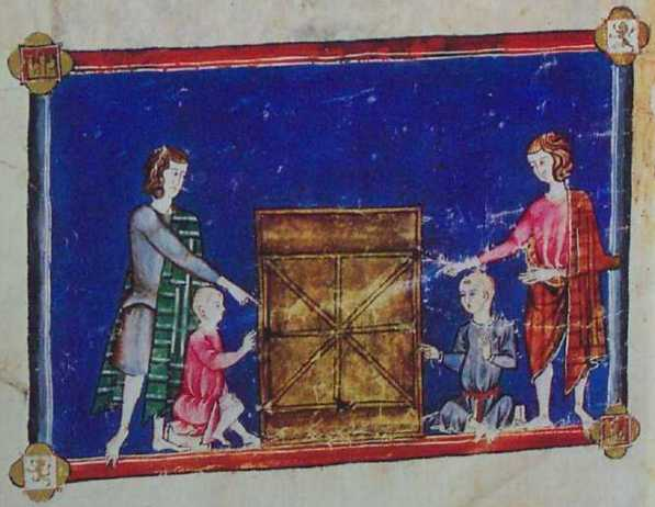 Three men's morris, from Libro de los Juegos
