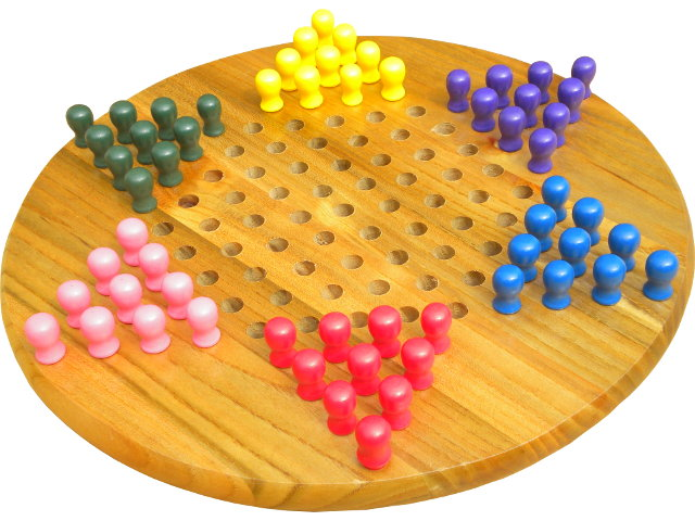 Chinese checkers, made by Jaques of London.