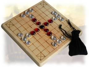 Our wooden tablut game